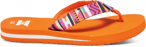 Toms Orange Multi Geo Textile Youth Verano Flip Flop