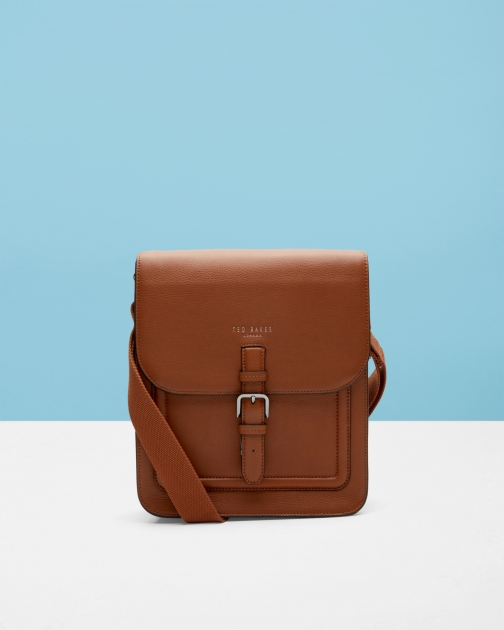 Ted Baker Leather Flight Tan Bag
