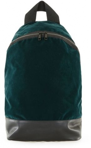 Topman Mens Blue Premium Teal Velvet , Blue Backpack