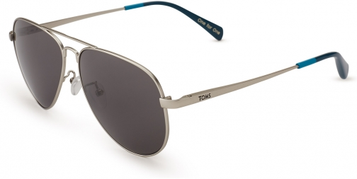 Toms Maverick 301 Satin Silver Polarized Eyewear
