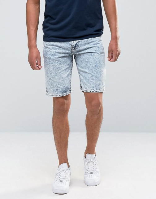 Bellfield Acid Wash Denim Short