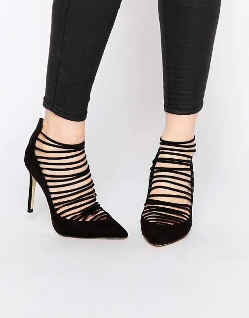 New Look Strappy Detail Court Shoes