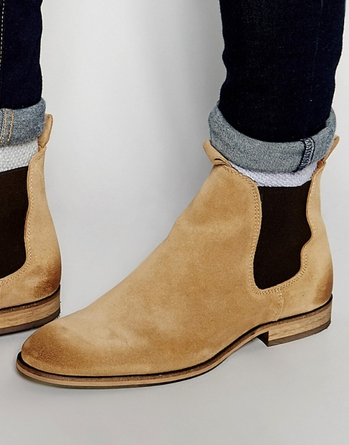 Selected Homme Melvin Suede Chelsea Boot