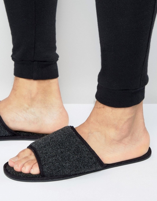 Asos Slide Black Marl Slipper
