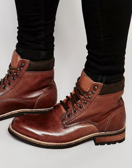 Bellfield Worker Brown Leather Boot