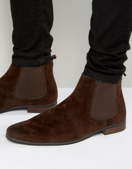 New Look Chelsea Dark Brown Boot