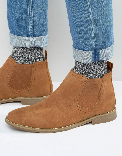 Front Chelsea Suede Boot