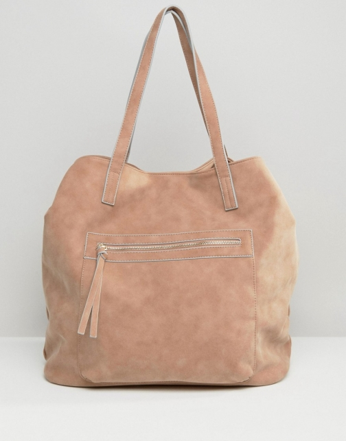 Pull&bear Suedette Shopper Dusky Pink Accessorie