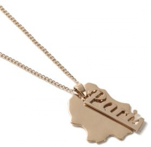 Topman Mens Gold Look Paris Tag *, GOLD Necklace