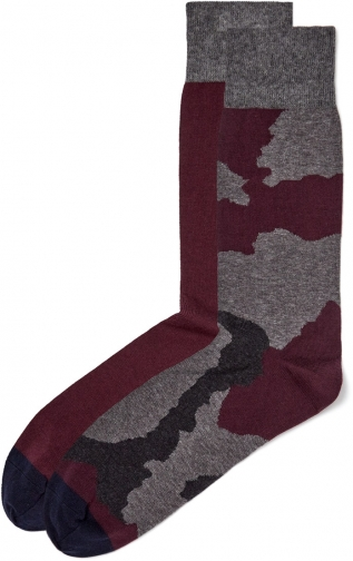 Jigsaw Camo Jacquard & Plain Set Sock