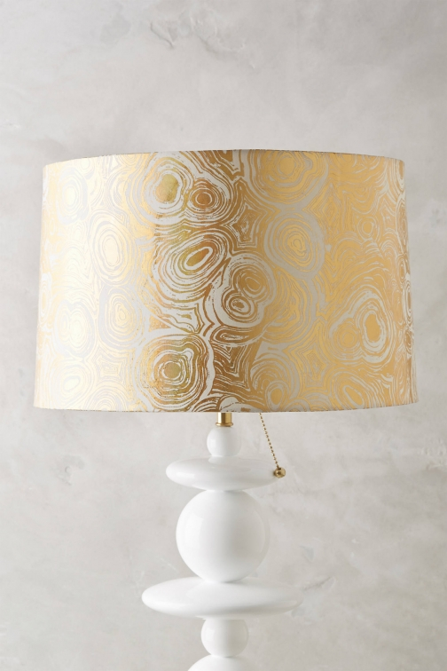 Anthropologie Gleaming Lampshade Ring