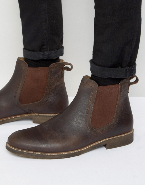 Red Tape Chelsea Brown Leather Boot