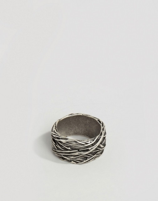 Asos Wire Burnished Silver Ring