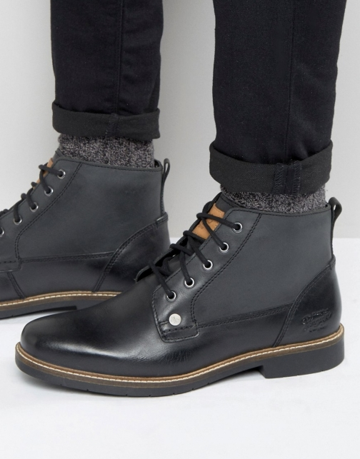 Original Penguin Lace Up Black Leather Boot