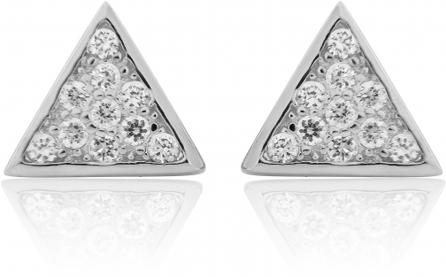 House Of Fraser LaBante Sterling Silver Triangle Stud Earring