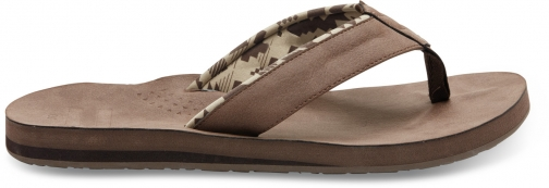 Toms Brown Men's Carilo Flip Flop