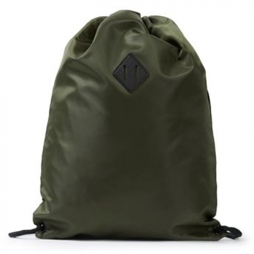 Topman Mens Green Khaki Draw String , Green Bag