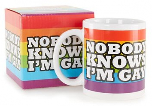 Topman Mens Multi Rainbow Mug, Multi Accessorie