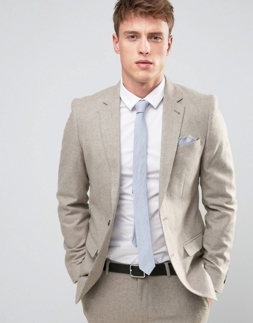 New Look Slim Stone Suit Jacket