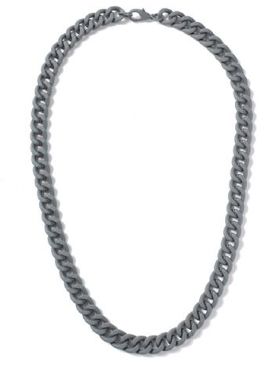 Topman Mens Grey Rubberised Chain *, Grey Necklace
