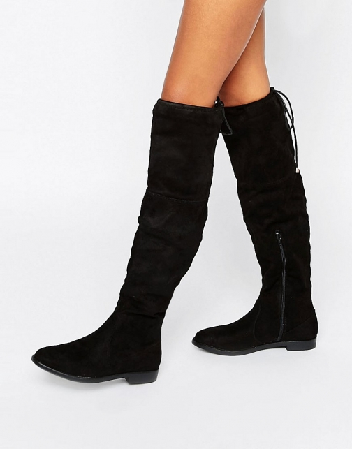 Truffle Collection Flat Over Knee Boot
