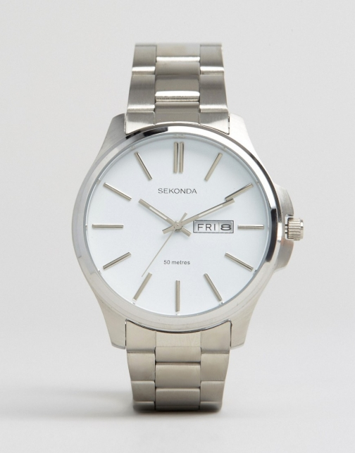 Sekonda Date Window Stainless Steel Watch