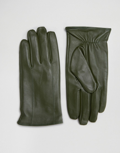 Barney's Originals Barneys Leather Khaki Glove