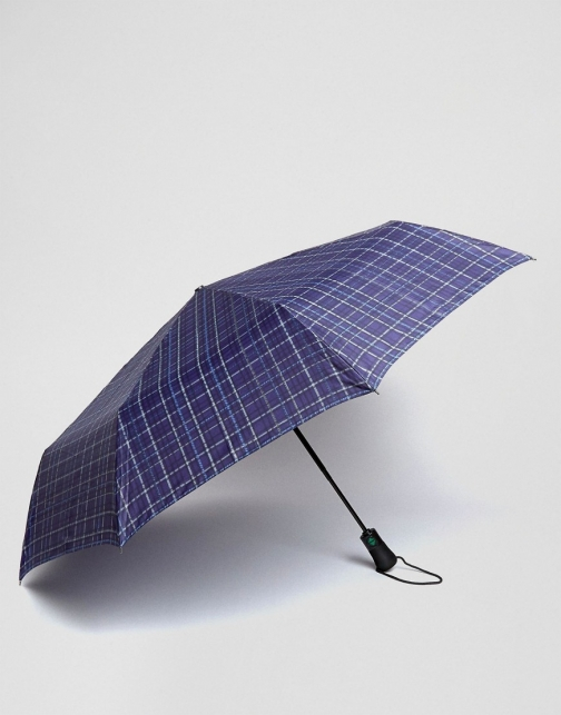Fulton Blue Check Umbrella