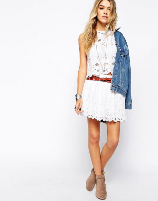 Denim & Supply By Ralph Lauren Brodiery Skirt