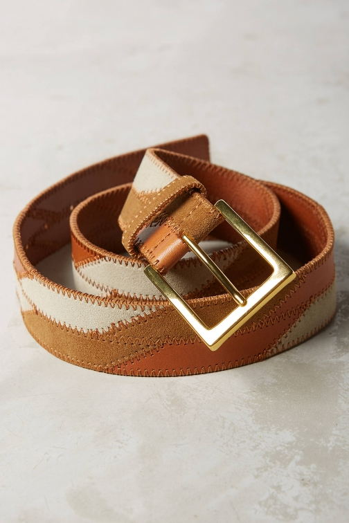 Anthropologie Rosa Patchwork Belt