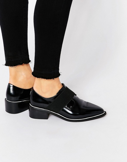 Asos MIX IT UP Elastic Detail Pointed Flat Shoes