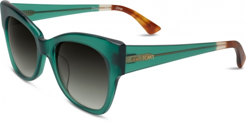 Toms Autry Emerald Crystal Sunglasses