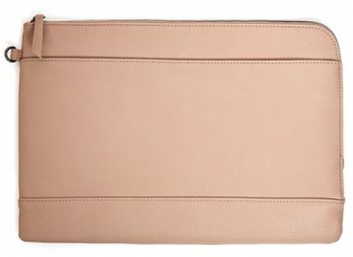 Topman Mens Brown Premium Taupe Faux Leather Document Holder, Brown Accessorie