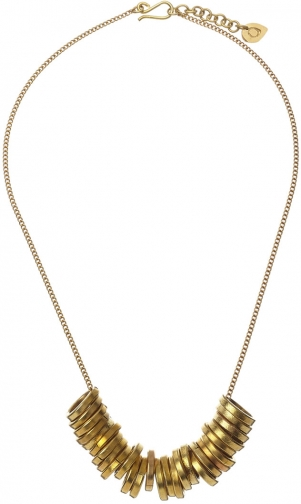 Jigsaw Made Circle Statement Necklace