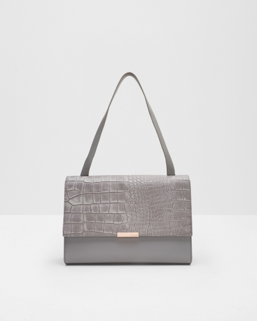 Ted Baker Leather Shoulder Grey Bag