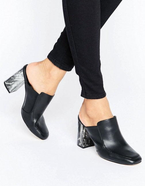 New Look Marble Heeled Mules