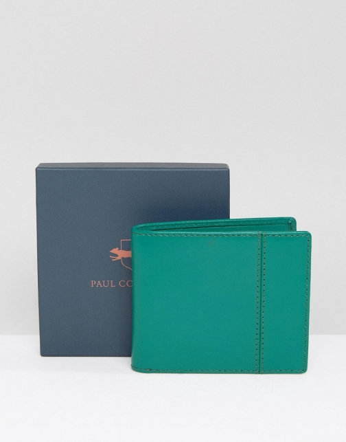 Paul Costelloe Leather Billfold Green Wallet