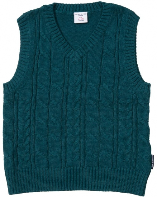 Polarn O. Pyret Boys Cable Knit Tank Top