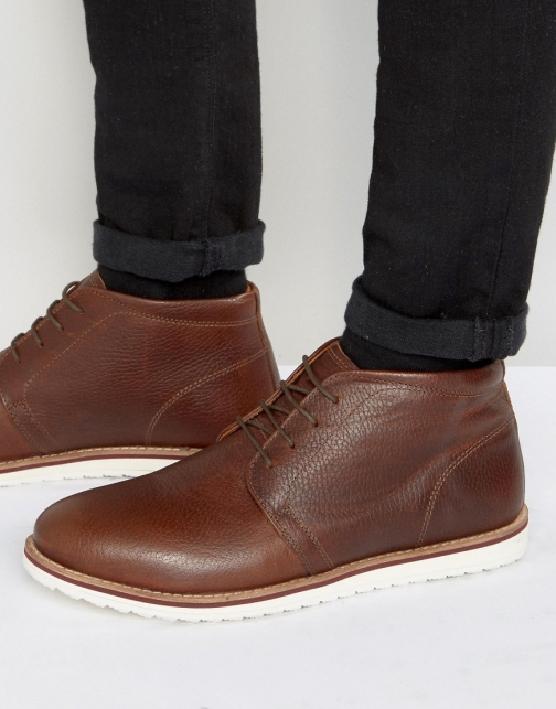 Red Tape Chukka Tan Leather Boot