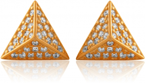 House Of Fraser LaBante Rose Gold Pyramid Stud Earring