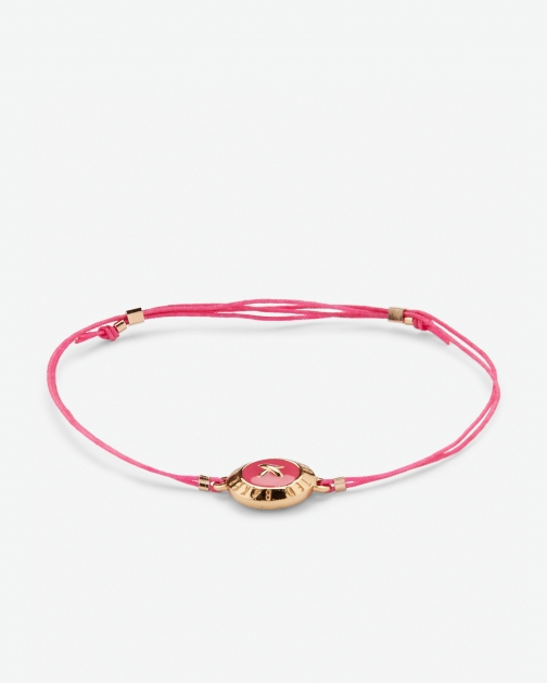 Ted Baker Large Button Mid Pink Bracelet