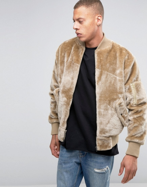 Asos The New County Teddy Bomber Jacket