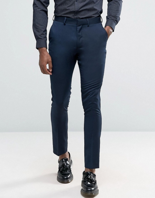 New Look Slim Navy Suit Trouser