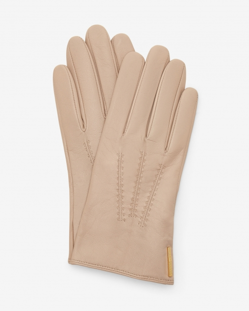 Ted Baker Metallic Bar Leather Camel Glove