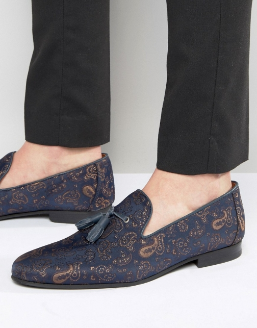 Asos Walk London Chelsea Paisley Dress Slipper