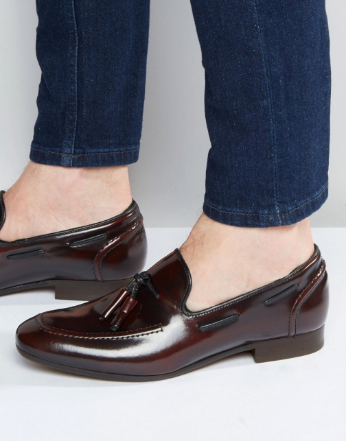 Asos Hudson London Pierre Leather Hi-Shine Loafer