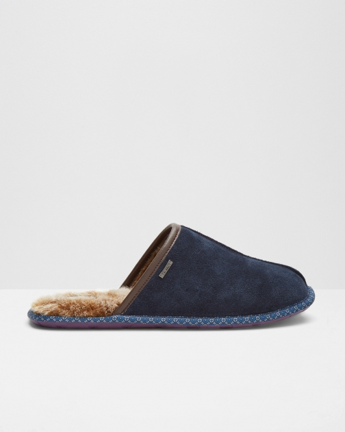 Ted Baker Backless Mule Blue Slipper