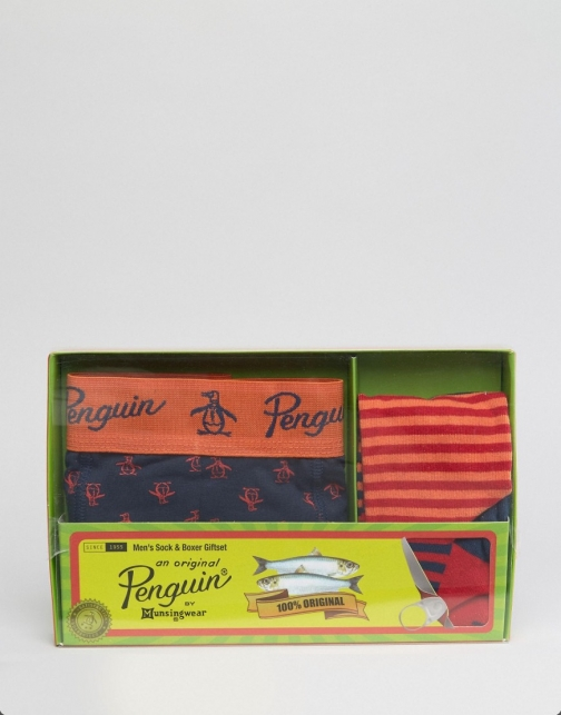 Original Penguin Trunk And Gift Set Sock