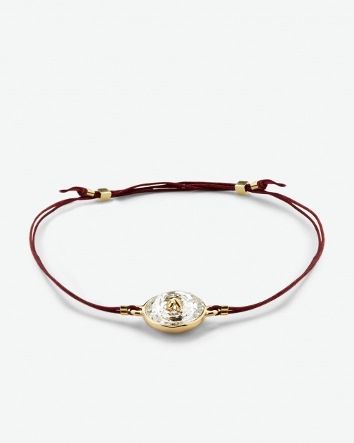 Ted Baker Crystal Button Oxblood Bracelet