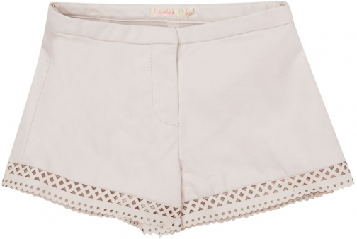 Billieblush Girls Faux-Leather Laser Cut Short